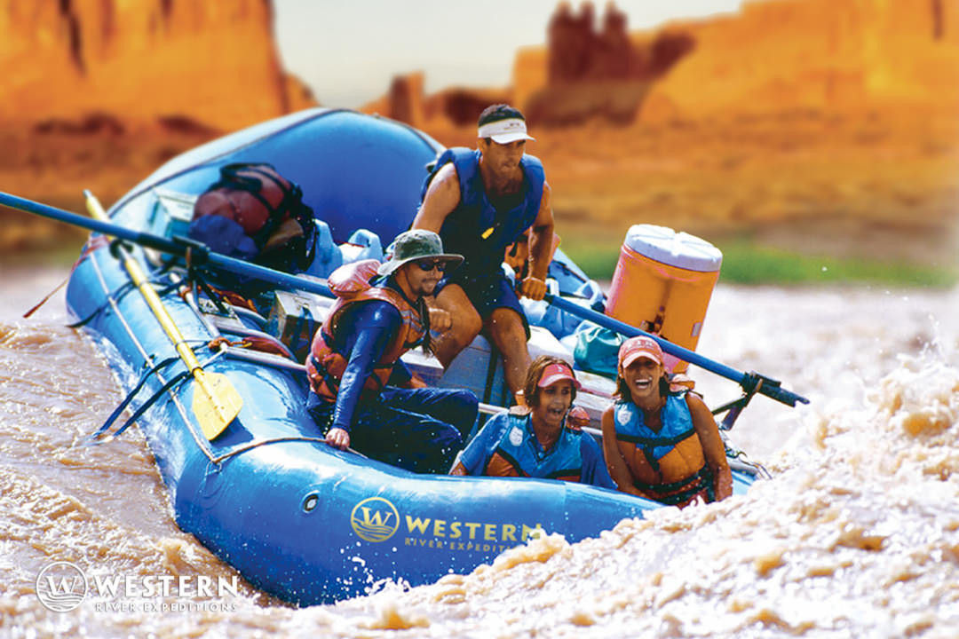Western River cataract canyon blue boat