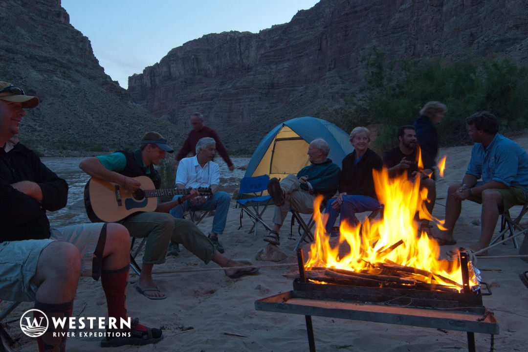 Western River cataract canyon campfire