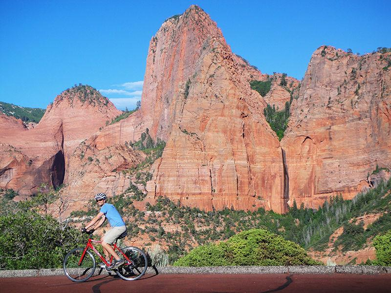 Biking in Zion National Park