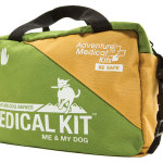For hiking, camping & backpacking with your dog, Adventure Medical's Me & My Dog™ Kit provides both master & pet medical solutions. The kit includes The Comprehensive Guide to Wilderness & Travel Medicine, a field manual for pet first aid and a Survive Outdoors Longer Emergency Blanket and other first aid essentials. $50.   AdventureMedicalKits.com