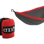 The DoubleNest Hammock is a small, light and packable travel hammock complete with aluminum wiregate carabiners ready for any adventure – whether it be to the beaches of Rio De Janeiro or the jungles of Costa Rica. It's crafted from 70D nylon that is breathable and soft on the skin, awesome for muggy days in the heat of summer and super durable for rugged hikes. It sets up in seconds, packs down to the size of a large grapefruit and weighs about the same as one too - 19 oz. They're also available in a great selection of colors, making it easy to stand out or blend in with your surroundings as much as you want to. $69.95