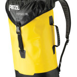 The Petzl Portage 30L backpack is designed for canyoneering hikes where potholes or swimming may be encountered. 30 liter volume and is made of TPU (PVC-free) abrasion resistant material with a welded construction that provides greater strength. Padded shoulder straps and molded handles ensure comfort. The bag has a specially designed pocket for storing the waistbelt in narrow slots. $137 Petzl.com