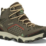 The Inhaler GTX Mid with GORE-TEX® from Vasque offers breathability and comfort without compromising stability. Vasque Vibram® Pneumatic outsole and Megagrip rubber gives hikers significant traction while providing comfort and protection. Men's & women's $160  Vasque.com